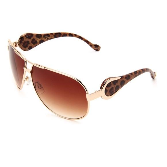 e4662cf63d Jessica Simpson Women Aviator Sunglasses Brown